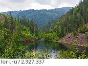 Горное озеро Амут в Хабаровском крае. Стоковое фото, фотограф Сергей Гусев / Фотобанк Лори