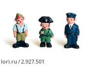 Глиняные фигурки военных. Стоковое фото, фотограф Олег Скударнов / Фотобанк Лори