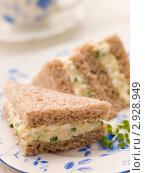 Купить «Тосты с начинкой из кресс-салата и яйца», фото № 2928949, снято 16 января 2007 г. (c) Monkey Business Images / Фотобанк Лори