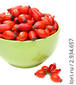 Купить «Плоды шиповника в зелёной чашке», фото № 2934657, снято 3 ноября 2011 г. (c) Марина Сапрунова / Фотобанк Лори