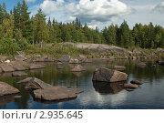 Купить «Карелия. Русло реки Выг», эксклюзивное фото № 2935645, снято 18 августа 2007 г. (c) Родион Власов / Фотобанк Лори