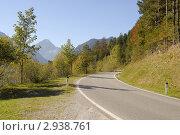 Купить «Дорога в Альпах», фото № 2938761, снято 3 октября 2011 г. (c) Марина Коробанова / Фотобанк Лори