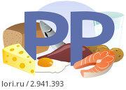 Купить «Содержание витамина PP в продуктах», иллюстрация № 2941393 (c) ivolodina / Фотобанк Лори