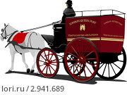 Лондонская почтовая карета. Стоковая иллюстрация, иллюстратор Leonid Dorfman / Фотобанк Лори