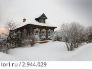 Деревенский дом зимой. Стоковое фото, фотограф Александр Степанов / Фотобанк Лори