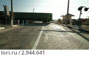 Купить «Железнодорожный переезд», видеоролик № 2944641, снято 8 ноября 2011 г. (c) Владимир Никулин / Фотобанк Лори