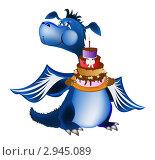Купить «Сладкий тортик в Новый Год Синего Дракона», иллюстрация № 2945089 (c) Сергей Гавриличев / Фотобанк Лори