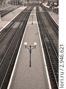 Пустая платформа. Стоковое фото, фотограф Екатерина Болсунова / Фотобанк Лори