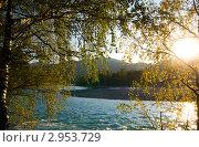 Купить «Осенний закат», фото № 2953729, снято 17 сентября 2011 г. (c) Виктор Ковалев / Фотобанк Лори