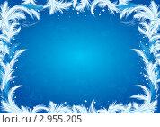 Морозный узор. Стоковая иллюстрация, иллюстратор Наталья Громова / Фотобанк Лори