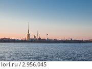 Петропавловская крепость, вид с Невы. Стоковое фото, фотограф Евгений Медведев / Фотобанк Лори