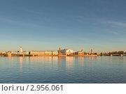 Биржа, вид с Невы (2011 год). Стоковое фото, фотограф Евгений Медведев / Фотобанк Лори