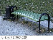Скамейка в парке. Стоковое фото, фотограф Людмила Егорова / Фотобанк Лори