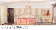Купить «Роскошная спальня», иллюстрация № 2966733 (c) Виктор Застольский / Фотобанк Лори
