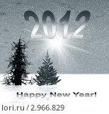 Купить «Новогодняя обложка для альбома 2012 года», иллюстрация № 2966829 (c) ElenArt / Фотобанк Лори