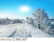 Зимний пейзаж, мороз и солнце. Стоковое фото, фотограф ElenArt / Фотобанк Лори
