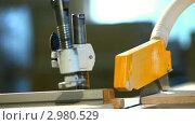 Купить «Рабочий разрезает фанеру с помощью циркулярной пилы», видеоролик № 2980529, снято 29 сентября 2011 г. (c) Гурьянов Андрей / Фотобанк Лори