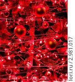 Красные новогодние украшения. Стоковое фото, фотограф ИВА Афонская / Фотобанк Лори