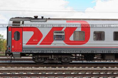 Купить «Пассажирский вагон РЖД», фото № 2984141, снято 27 сентября 2011 г. (c) Кекяляйнен Андрей / Фотобанк Лори