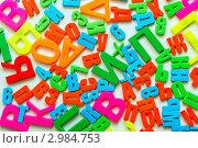 Купить «Пластиковые буквы с русским алфавитом», фото № 2984753, снято 16 июля 2018 г. (c) Юрий Плющев / Фотобанк Лори