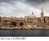 Купить «Валлетта. Вид с моря. Мальта», фото № 2996081, снято 14 декабря 2010 г. (c) Яков Филимонов / Фотобанк Лори