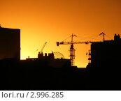 Закат на фоне города. Стоковое фото, фотограф Олег Столяров / Фотобанк Лори