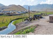 Ручей в посёлке, Киргизия (2011 год). Стоковое фото, фотограф Dmitry Lameko / Фотобанк Лори