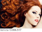 Купить «Красивая рыжеволосая девушка с ярким макияжем», фото № 3006517, снято 27 февраля 2009 г. (c) Вероника Галкина / Фотобанк Лори