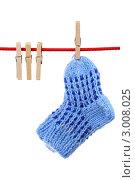 Купить «Носочки на веревке», фото № 3008025, снято 4 декабря 2011 г. (c) Игорь Веснинов / Фотобанк Лори