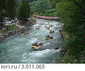 Купить «Сплав по горной реке», фото № 3011065, снято 17 июня 2008 г. (c) Александр Литовченко / Фотобанк Лори