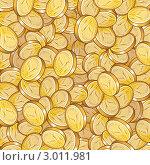 Фон из золотых монет. Стоковая иллюстрация, иллюстратор PILart / Фотобанк Лори