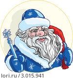 Купить «Дед Мороз по пояс с посохом и мешком подарков», иллюстрация № 3015941 (c) Антон Гриднев / Фотобанк Лори