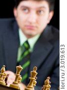 Купить «ФИДЕ. Шахматист Вугар Гашимов (мир ранг - 12), Азербайджан», фото № 3019613, снято 20 января 2010 г. (c) Elnur / Фотобанк Лори