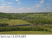 Купить «Летний пейзаж с железной дорогой», фото № 3019681, снято 19 июня 2011 г. (c) Сергей Яковлев / Фотобанк Лори