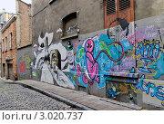 Купить «Бельгия. Граффити на стене здания», эксклюзивное фото № 3020737, снято 23 июля 2011 г. (c) Илюхина Наталья / Фотобанк Лори