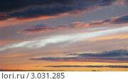 Купить «Небесный пейзаж на закате», видеоролик № 3031285, снято 2 мая 2010 г. (c) Евгений / Фотобанк Лори