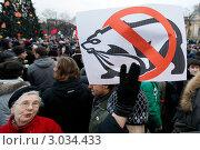 Митинг против фальсификации итогов выборов состоялся в Санкт-Петербурге на Пионерской площади (2011 год). Редакционное фото, фотограф Елена Игнатьева / Фотобанк Лори
