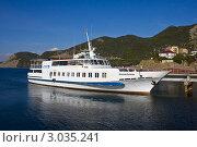 Купить «Черное море, белый теплоход», фото № 3035241, снято 23 сентября 2011 г. (c) Вячеслав Беляев / Фотобанк Лори