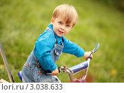 Мальчик на велосипеде. Стоковое фото, фотограф Светлана  Ковалевская / Фотобанк Лори