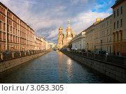 Купить «Набережная канала. Санкт-Петербург», эксклюзивное фото № 3053305, снято 3 декабря 2011 г. (c) Александр Алексеев / Фотобанк Лори