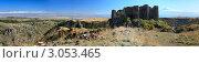 Крепость Амберт и гора Арарат, Армения (2011 год). Стоковое фото, фотограф Рыков Юрий / Фотобанк Лори