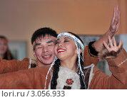 Купить «Выступление артистов фольклорного ансамбля на открытии выставки в Москве», фото № 3056933, снято 13 ноября 2011 г. (c) Fro / Фотобанк Лори