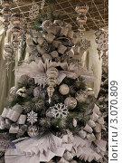 Купить «Рождественские украшения на новогодней елке в витрине магазина», фото № 3070809, снято 19 декабря 2011 г. (c) Ольга Липунова / Фотобанк Лори