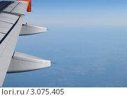 Под крылом самолета. Стоковое фото, фотограф Татьяна Королева / Фотобанк Лори