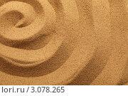 Купить «Спиралевидный песчаный фон», фото № 3078265, снято 3 марта 2011 г. (c) Dzianis Miraniuk / Фотобанк Лори