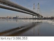 Санкт-Петербург. Вантовый мост через Неву (2011 год). Стоковое фото, фотограф Алексей Ильинский / Фотобанк Лори