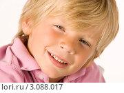 Лицо улыбающегося мальчика. Стоковое фото, фотограф Monkey Business Images / Фотобанк Лори