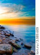 Морской закат на море. Стоковое фото, фотограф Sviatoslav Homiakov / Фотобанк Лори
