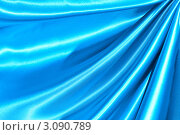 Купить «Фон из голубого шелка», фото № 3090789, снято 12 сентября 2009 г. (c) Николай Охитин / Фотобанк Лори