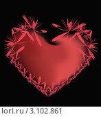 Купить «Пламенное сердце на черном фоне», иллюстрация № 3102861 (c) Екатерина Ворончихина / Фотобанк Лори